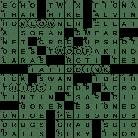 Piece Of Body Art Crossword Clue