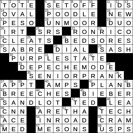 graphic about Printable Ny Times Crossword Puzzles titled 0510-19 NY Situations Crossword 10 May possibly 19, Friday -