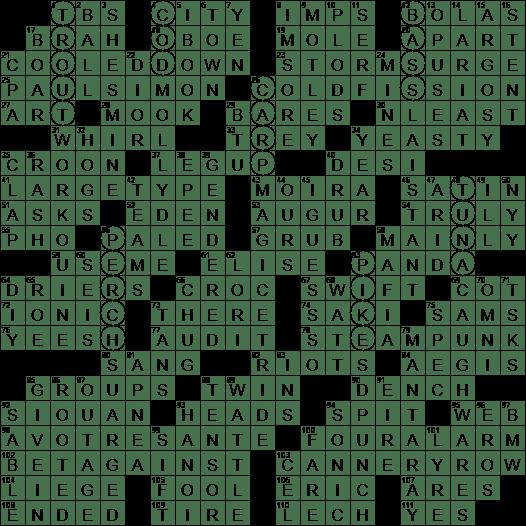 0519 19 Ny Times Crossword 19 May 19 Sunday Nyxcrossword Com