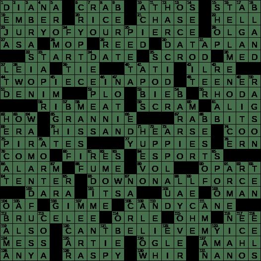 0526 19 Ny Times Crossword 26 May 19 Sunday Nyxcrossword Com