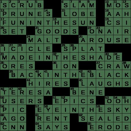 0617 19 Ny Times Crossword 17 Jun 19 Monday Nyxcrossword Com
