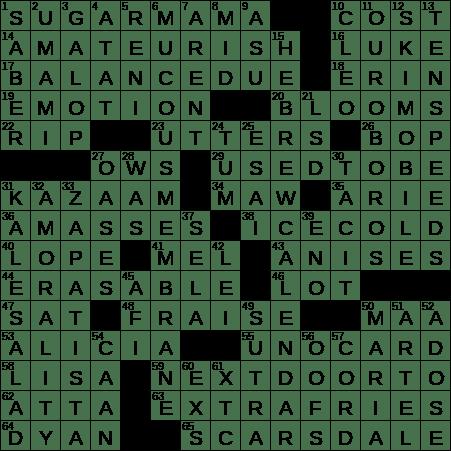 0629 19 Ny Times Crossword 29 Jun 19 Saturday Nyxcrossword Com