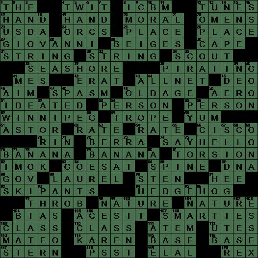 0623 19 Ny Times Crossword 23 Jun 19 Sunday Nyxcrossword Com