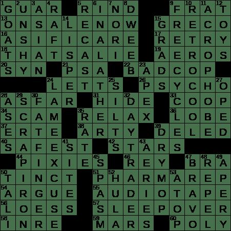 0705 19 Ny Times Crossword 5 Jul 19 Friday Nyxcrossword Com