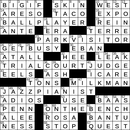 0729 19 Ny Times Crossword 29 Jul