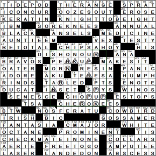 0707 19 Ny Times Crossword 7 Jul 19 Sunday Nyxcrossword Com