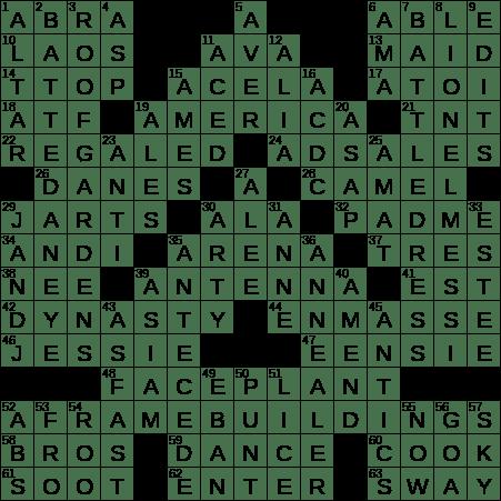 0716 19 Ny Times Crossword 16 Jul 19 Tuesday Nyxcrossword Com
