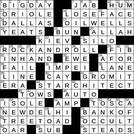 0710 19 Ny Times Crossword 10 Jul 19 Wednesday Nyxcrossword Com
