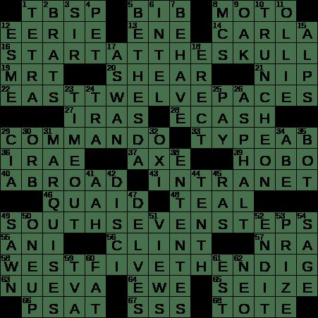 0731 19 Ny Times Crossword 31 Jul 19 Wednesday Nyxcrossword Com