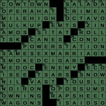 0803 19 Ny Times Crossword 3 Aug 19 Saturday Nyxcrossword Com