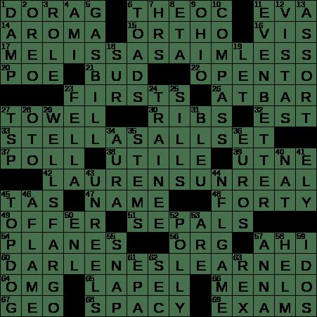 mystery award crossword