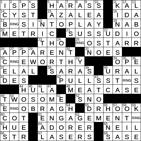 photograph relating to Printable Thomas Joseph Crossword Puzzle for Today identified as