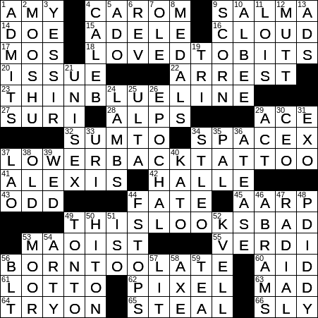 0910 19 Ny Times Crossword 10 Sep 19 Tuesday Nyxcrossword Com