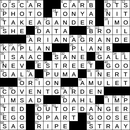 1028 19 Ny Times Crossword 28 Oct 19 Monday Nyxcrossword Com