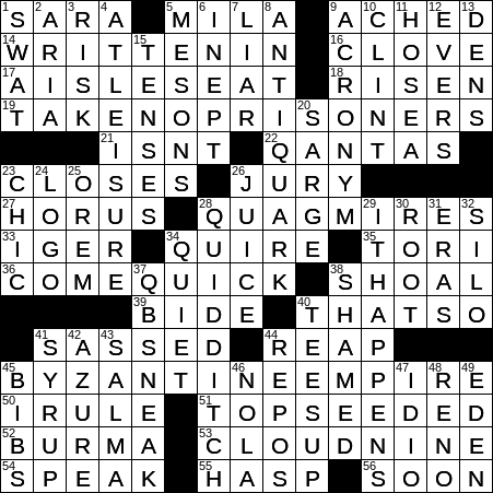 1005 19 Ny Times Crossword 5 Oct 19 Saturday Nyxcrossword Com