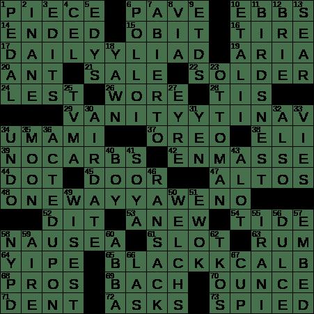1003 19 Ny Times Crossword 3 Oct 19 Thursday Nyxcrossword Com