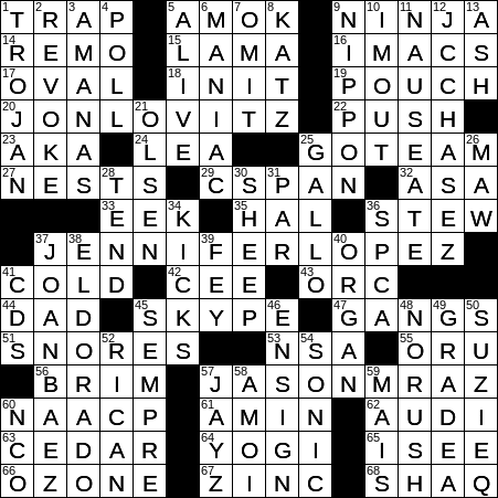 1029 19 Ny Times Crossword 29 Oct 19 Tuesday Nyxcrossword Com