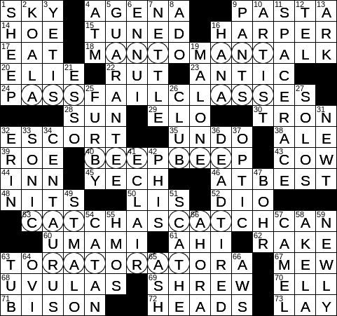 1015 19 Ny Times Crossword 15 Oct 19 Tuesday Nyxcrossword Com
