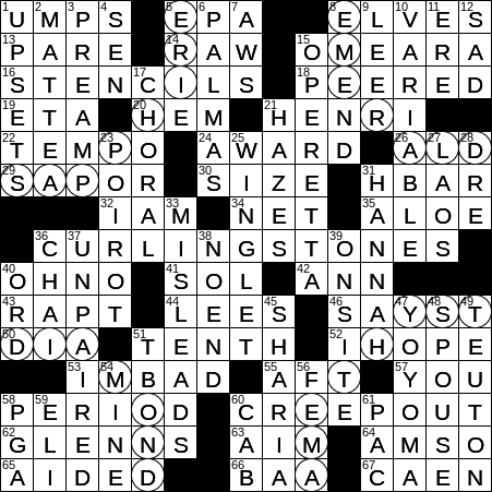 1008 19 Ny Times Crossword 8 Oct 19 Tuesday Nyxcrossword Com