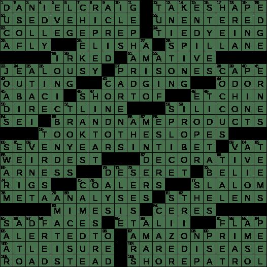 1124 19 Ny Times Crossword 24 Nov 19 Sunday Nyxcrossword Com