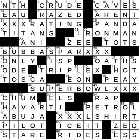 1106 19 Ny Times Crossword 6 Nov 19 Wednesday Nyxcrossword Com