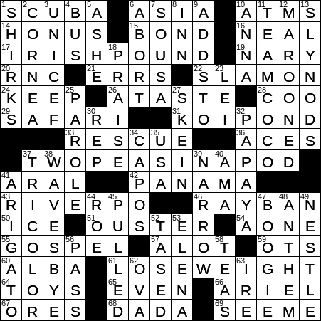 1231 19 Ny Times Crossword 31 Dec 19 Tuesday Nyxcrossword Com