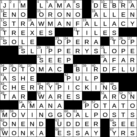 1204 19 Ny Times Crossword 4 Dec 19 Wednesday Nyxcrossword Com