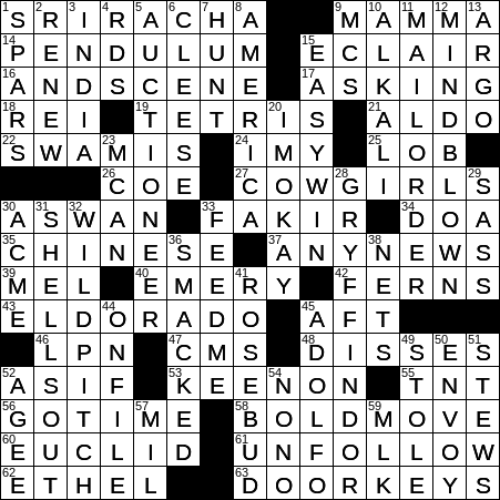 0131 20 Ny Times Crossword 31 Jan 20 Friday Nyxcrossword Com