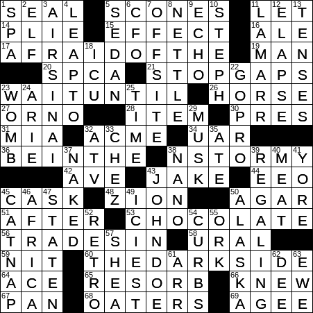 0102 20 Ny Times Crossword 2 Jan 20 Thursday Nyxcrossword Com