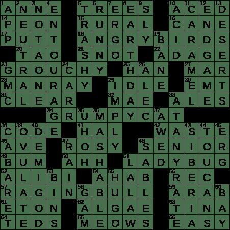 0114 20 Ny Times Crossword 14 Jan 20 Tuesday Nyxcrossword Com