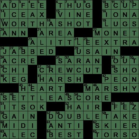 0210 20 Ny Times Crossword 10 Feb 20 Monday Nyxcrossword Com