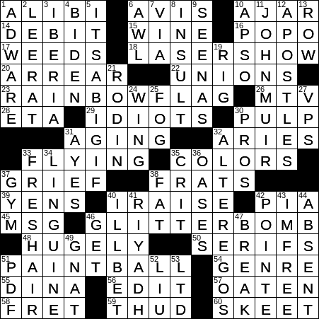 0211 20 Ny Times Crossword 11 Feb 20 Tuesday Nyxcrossword Com