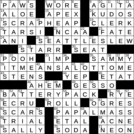 0316 20 Ny Times Crossword 16 Mar 20 Monday Nyxcrossword Com