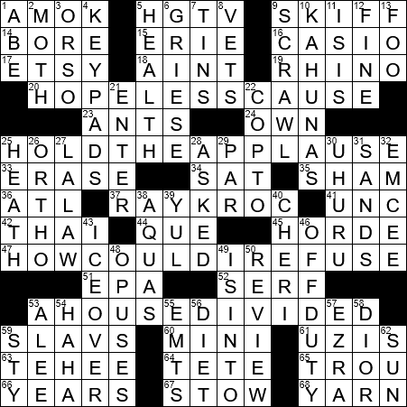 0323 20 Ny Times Crossword 23 Mar 20 Monday Nyxcrossword Com