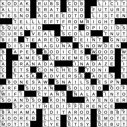 clean as a lab coat nyt crossword