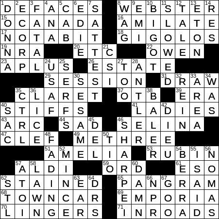 0305 20 Ny Times Crossword 5 Mar 20 Thursday Nyxcrossword Com