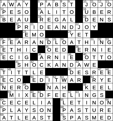 0317 20 Ny Times Crossword 17 Mar 20 Tuesday Nyxcrossword Com