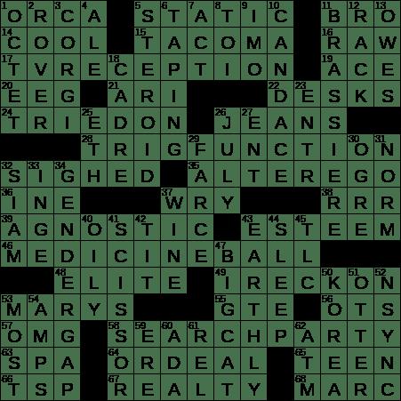 0324 20 Ny Times Crossword 24 Mar 20 Tuesday Nyxcrossword Com