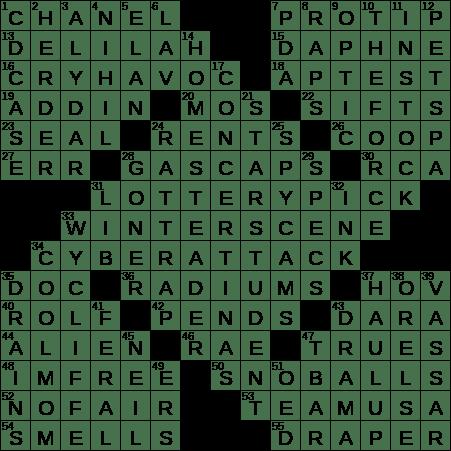 0418 20 Ny Times Crossword 18 Apr 20 Saturday Nyxcrossword Com