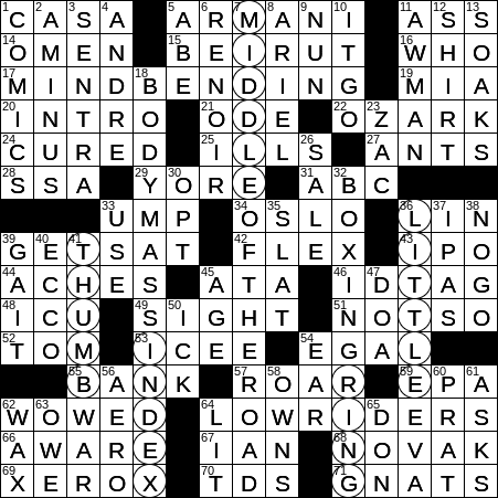 0414 20 Ny Times Crossword 14 Apr 20 Tuesday Nyxcrossword Com