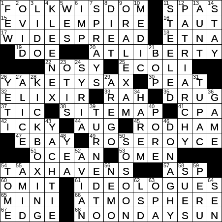 Pleasurable Diversions Informally Crossword Clue Archives Laxcrossword Com