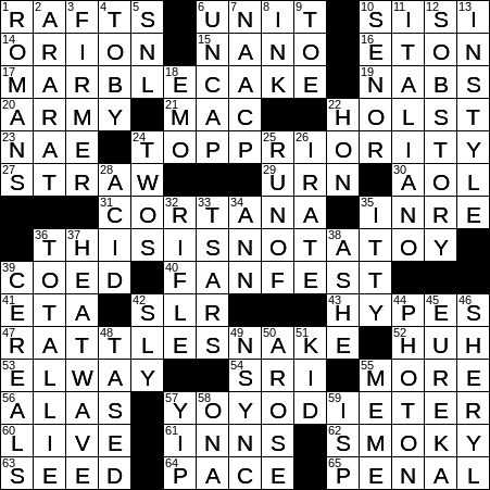 0512 20 Ny Times Crossword 12 May 20 Tuesday Nyxcrossword Com