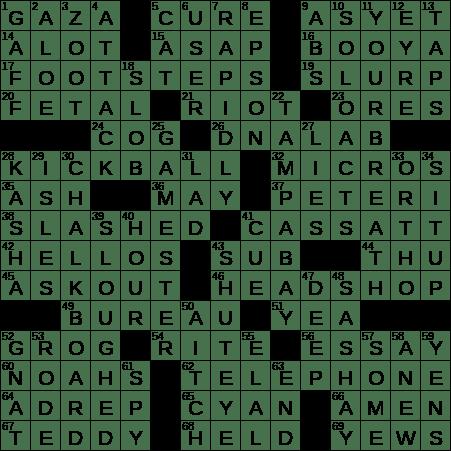 0505 20 Ny Times Crossword 5 May 20 Tuesday Nyxcrossword Com