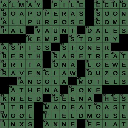 0626 20 Ny Times Crossword 26 Jun 20 Friday Nyxcrossword Com