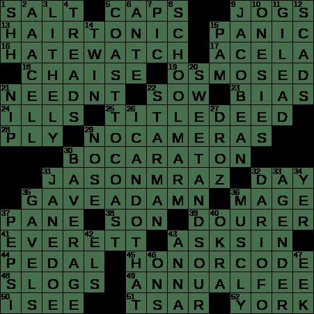 0627 20 Ny Times Crossword 27 Jun 20 Saturday Nyxcrossword Com