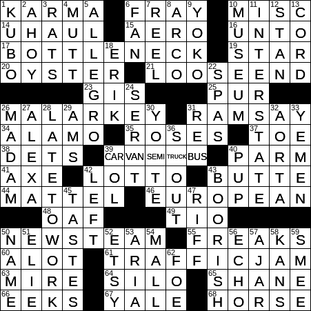 0618 20 Ny Times Crossword 18 Jun 20 Thursday Nyxcrossword Com