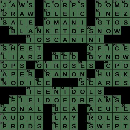 0617 20 Ny Times Crossword 17 Jun 20 Wednesday Nyxcrossword Com