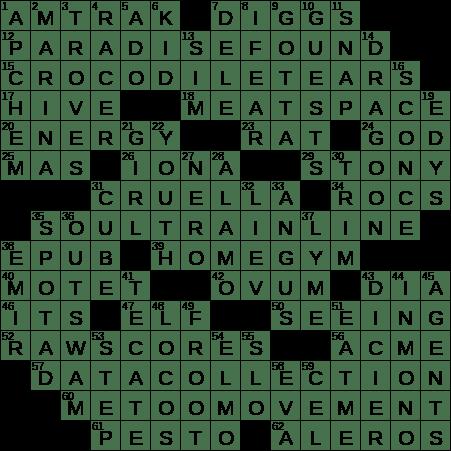 0711 20 Ny Times Crossword 11 Jul 20 Saturday Nyxcrossword Com