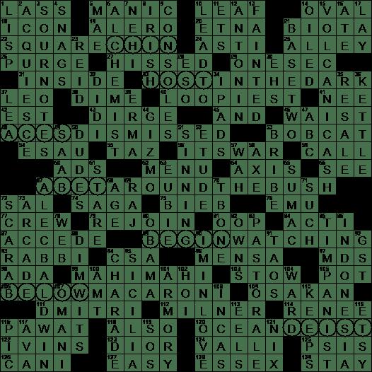 0726 20 Ny Times Crossword 26 Jul 20 Sunday Nyxcrossword Com