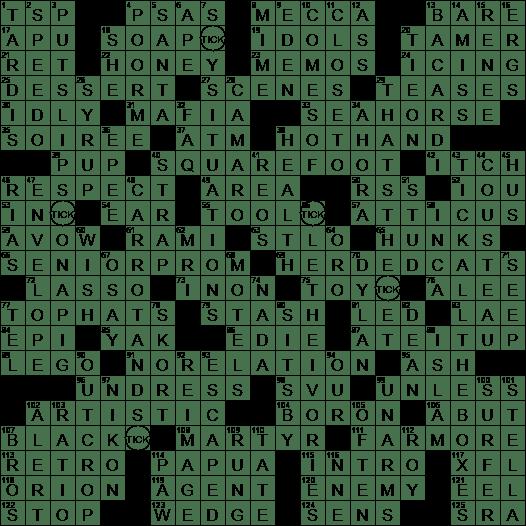 0705 20 Ny Times Crossword 5 Jul 20 Sunday Nyxcrossword Com